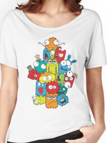 A gang of cartoon characters Women's Relaxed Fit T-Shirt
