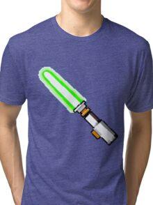 8bit lightsaber Tri-blend T-Shirt