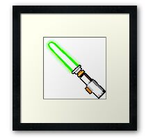 8bit lightsaber Framed Print