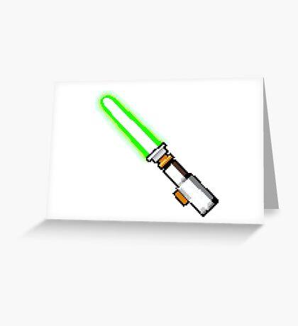 8bit lightsaber Greeting Card