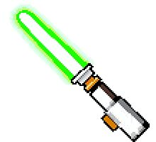 8bit lightsaber Photographic Print