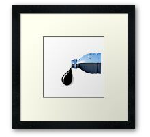 Water Bottles are Oil Framed Print