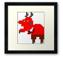 Pixel Devil Framed Print