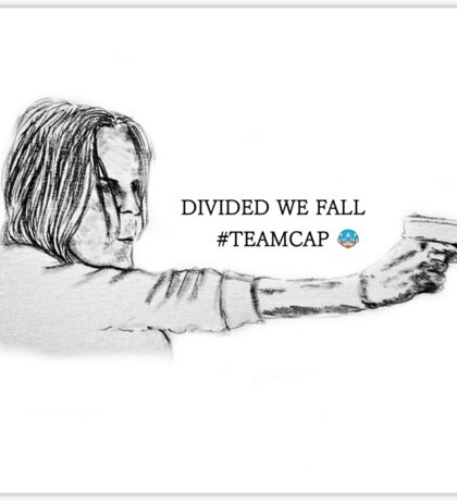 Divided we fall Sticker