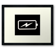 Charging Battery Framed Print