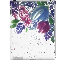 Watercolor Teal and Pink Flowers iPad Case/Skin