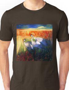 """crane """"balearica pavonina"""" Unisex T-Shirt"""