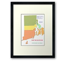 RI REFUNDS NOT PAID TO PREVENT TAX FRAUD Framed Print