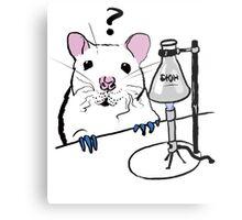Chemistry Rat Metal Print