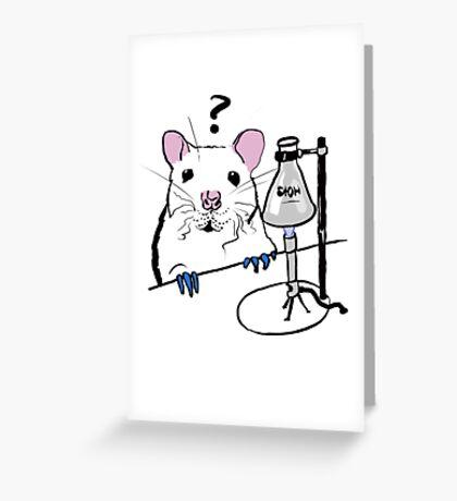 Chemistry Rat Greeting Card
