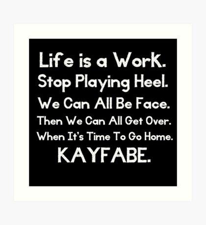 Kayfabe - Biz Terms Art Print