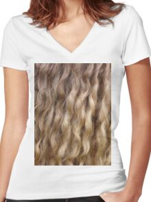Glorious Hair Women's Fitted V-Neck T-Shirt