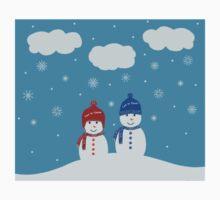 Snowman - Let It Snow Illustration Baby Tee