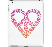 Floral Peace Heart iPad Case/Skin