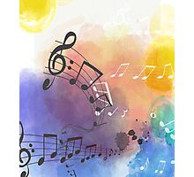 Watercolor Musical Note Symbols Photographic Print