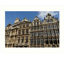 Postcard from Brussels - Grand Place Facades Art Print
