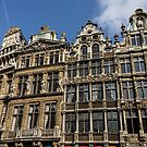 Postcard from Brussels - Grand Place Facades by Georgia Mizuleva
