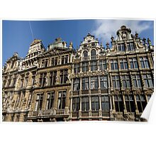 Postcard from Brussels - Grand Place Facades Poster