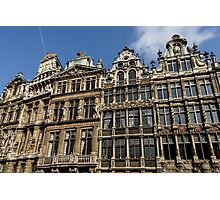Postcard from Brussels - Grand Place Facades Photographic Print