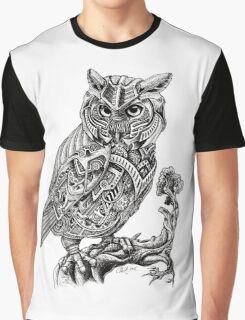 Mechani-Owl Graphic T-Shirt