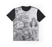 Alice and the Cheshire Cat Graphic T-Shirt