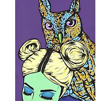 Girl with Owl Photographic Print