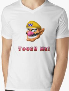 """Touch me"" - WARIO Mens V-Neck T-Shirt"
