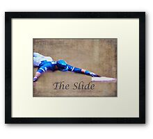 The Baseball Slide of Russel Martin Framed Print