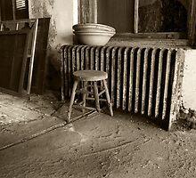 Broken stool on Ellis Island by merrywrath