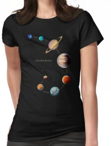 Solar System  Womens Fitted T-Shirt