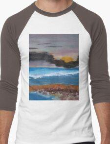 Sunset At Low Tide Men's Baseball ¾ T-Shirt