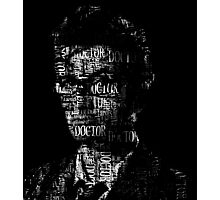 Doctor Who - The 10th Doctor - Word Cloud Image Photographic Print