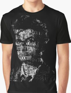 Doctor Who - The 10th Doctor - Word Cloud Image Graphic T-Shirt