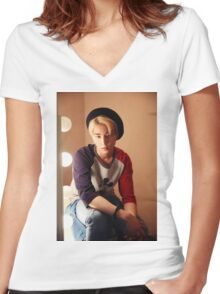 Day6 - Brian/Young K Women's Fitted V-Neck T-Shirt