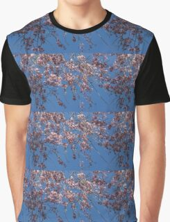 Pretty in Pink - a Flowering Cherry Tree and Blue Spring Sky Graphic T-Shirt