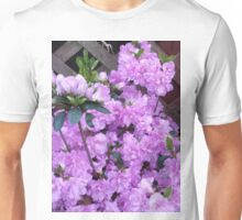 Purple Azalea Flowers Unisex T-Shirt