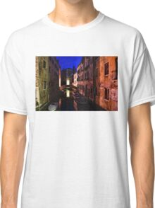 Impressions of Venice - Wandering Around the Small Canals at Night Classic T-Shirt