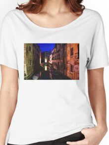 Impressions of Venice - Wandering Around the Small Canals at Night Women's Relaxed Fit T-Shirt