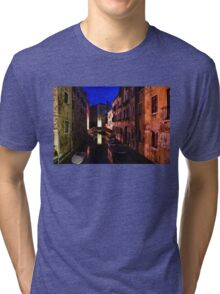 Impressions of Venice - Wandering Around the Small Canals at Night Tri-blend T-Shirt