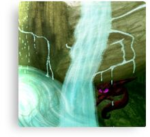 Raining in a cave Canvas Print