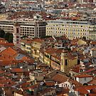 Red Roofs of Europe - Nice, France, French Riviera by Georgia Mizuleva