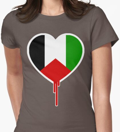 PALESTINIAN BLEEDING HEART Womens Fitted T-Shirt
