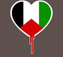 PALESTINIAN BLEEDING HEART Womens Fitted T-Shirt
