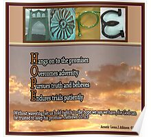 HOPE-2  Alphabet Art Acrostics Poster