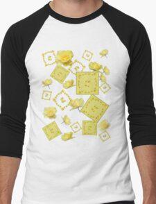 Yellow Rose Boquet Men's Baseball ¾ T-Shirt