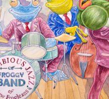 Froggy Band Sticker