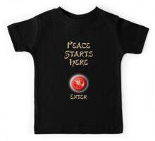 Peace Button Shirt Kids Tee