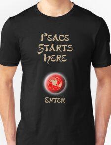Peace Button Shirt T-Shirt