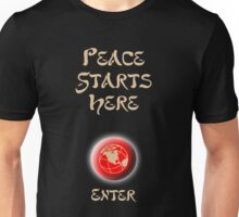 Peace Button Shirt Unisex T-Shirt