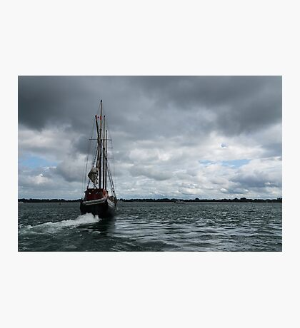 Sailing Into the Storm Photographic Print